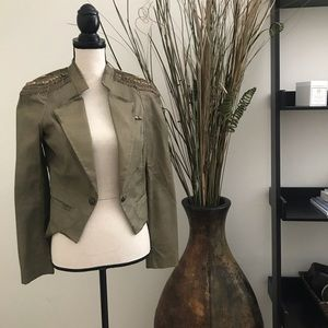 LaRok Green Military Jacket